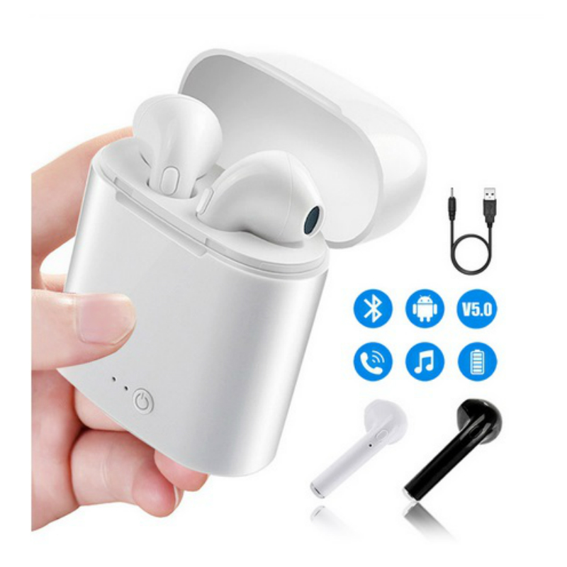 Bluetooth earphone set with box i7s tws air Wireless Headphones Headsets Stereo In-Ear for ios Android phone Handsfree headphone
