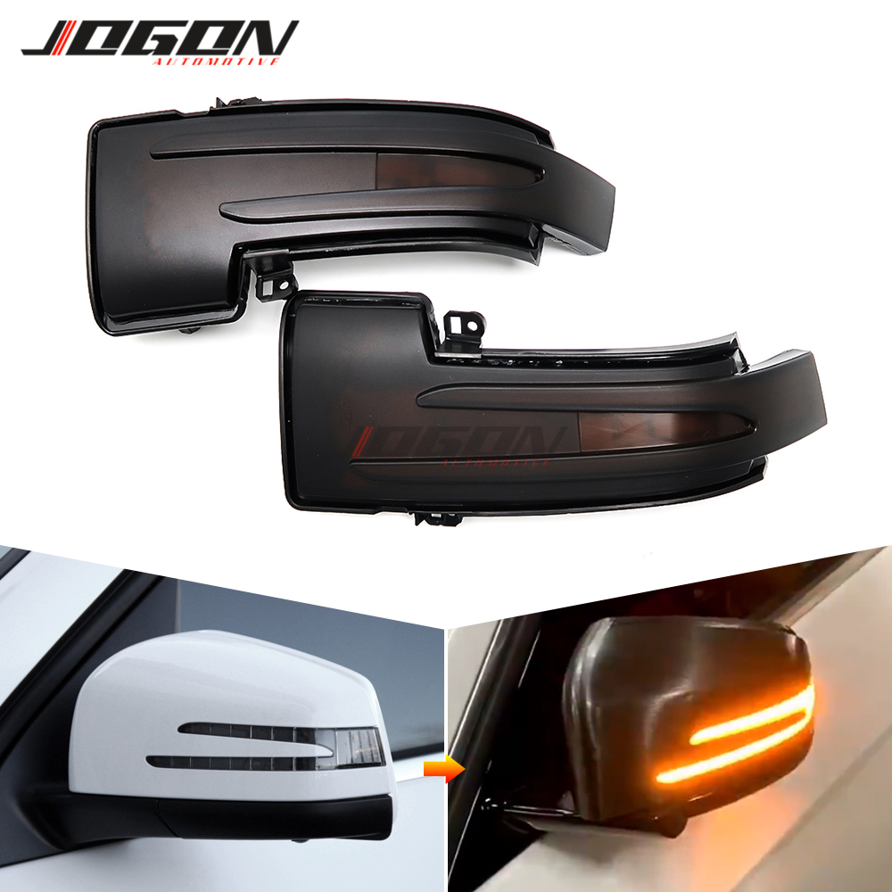 For Mercedes Benz ML W166 GL X166 GLS GLE R W251 G W463 2013-2018 LED Dynamic Turn Signal Light Side Mirror Sequential Indicator