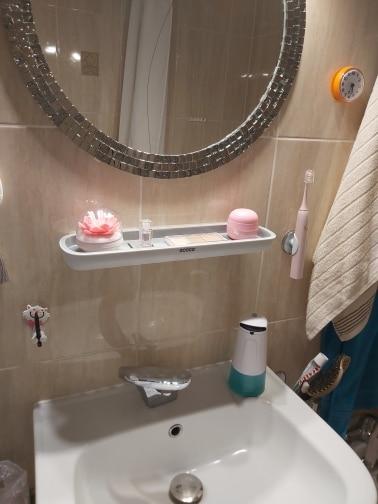 Oval Adhesive Bathroom Shelf photo review