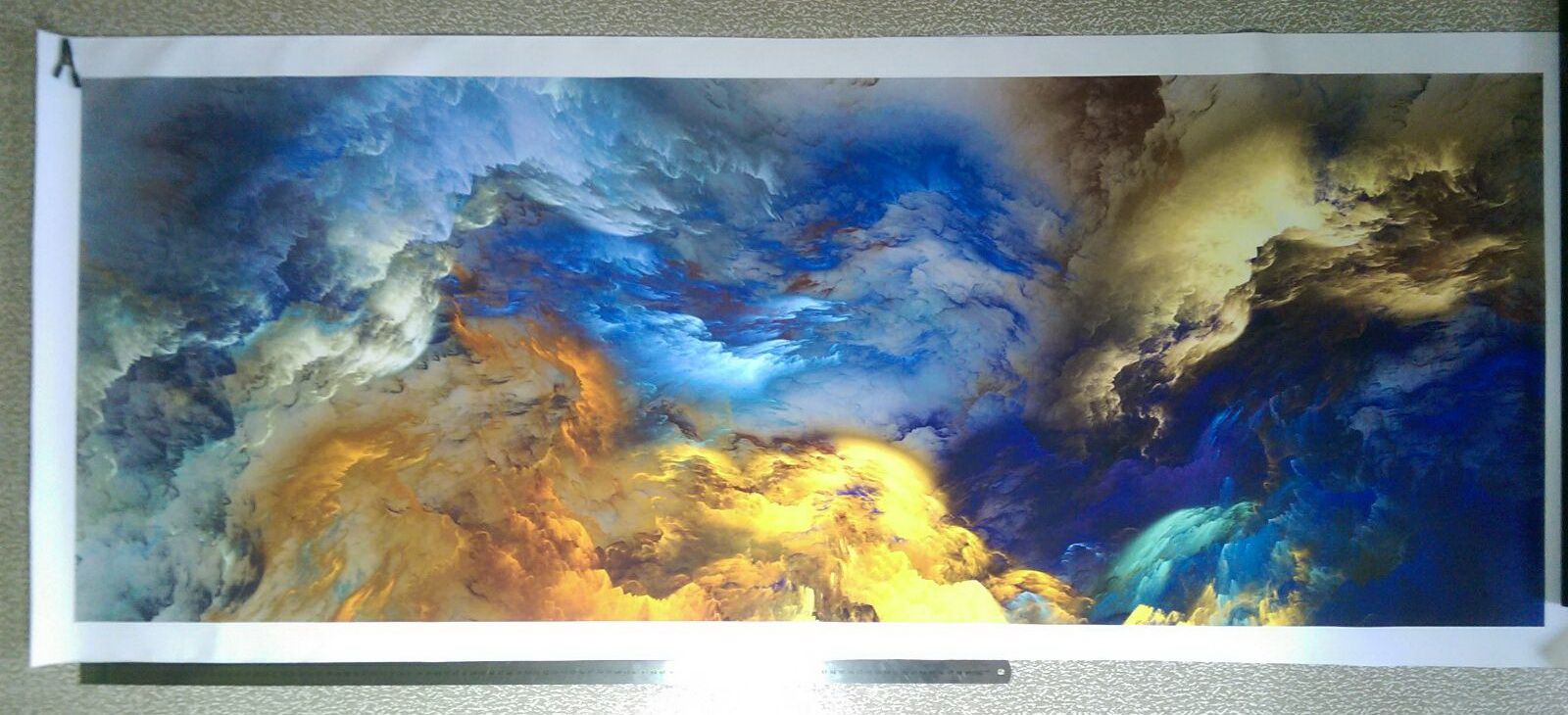 Abstract Colors Unreal Canvas Poster