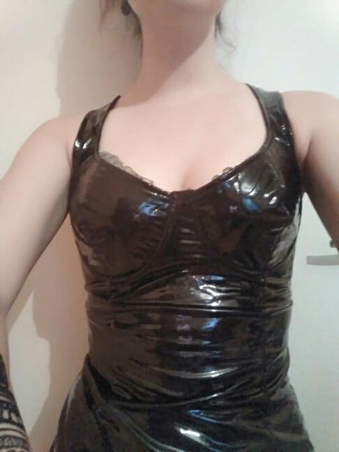 Pu Leather Dress Women  Spaghetti Strap Dress Sexy Club Party Dresses Sleeveless Pencil Mini Dress Bodycon Vestidos photo review