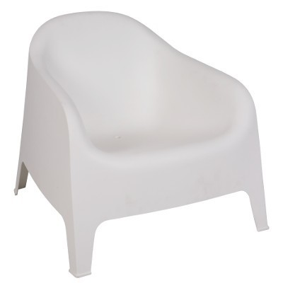 Armchair SUNNY BIG, Stackable, White Polypropylene