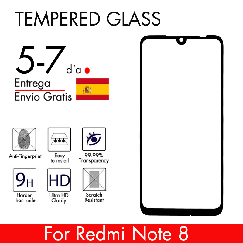 TyphoonMovil Tempered Glass Screen Protector Xiaomi Redmi Note 8 Full Protection High Hardness 9H Free To Footprint Version 2019