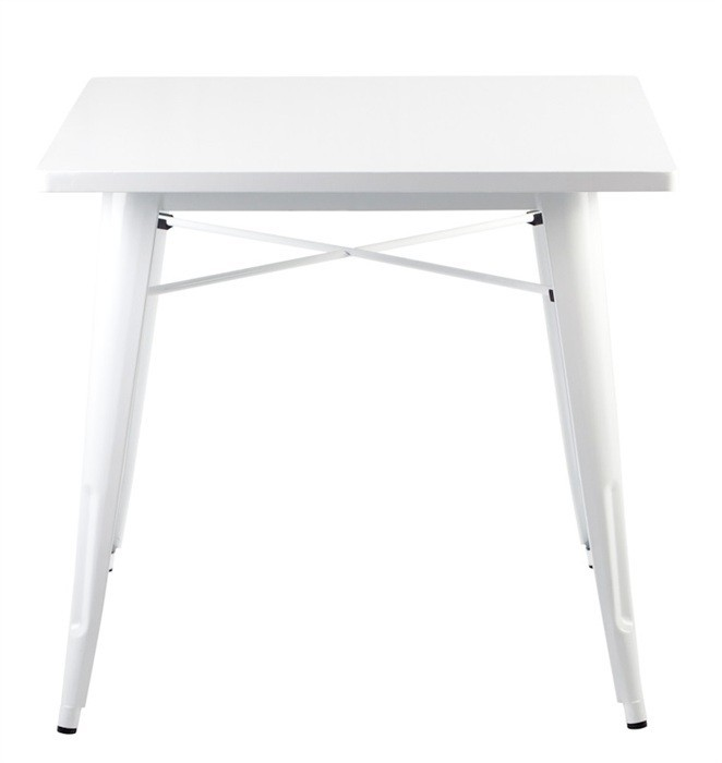 Table TOL, Steel, White, 80x80 Cms