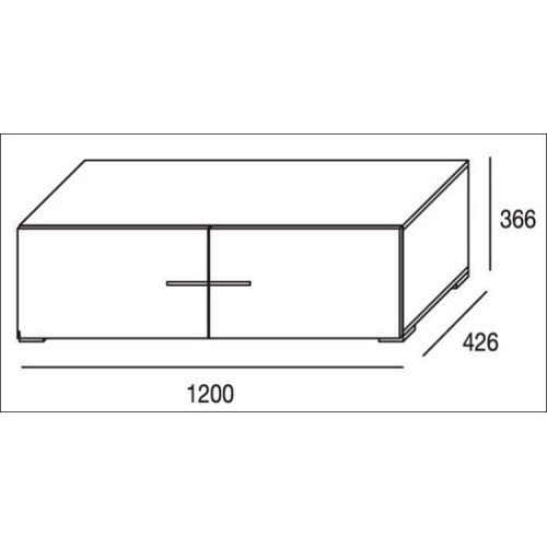 Mueble de salón completo, color cambrian y blanco, muebles de TV, apilables ref-181 2