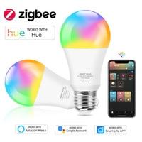 Tuya Zigbee 3.0 lampadina a LED E27 E26 lampada a luce RGB CW dimmerabile lavora con tonalità Alexa Google Home Assistant Automation Smart Life