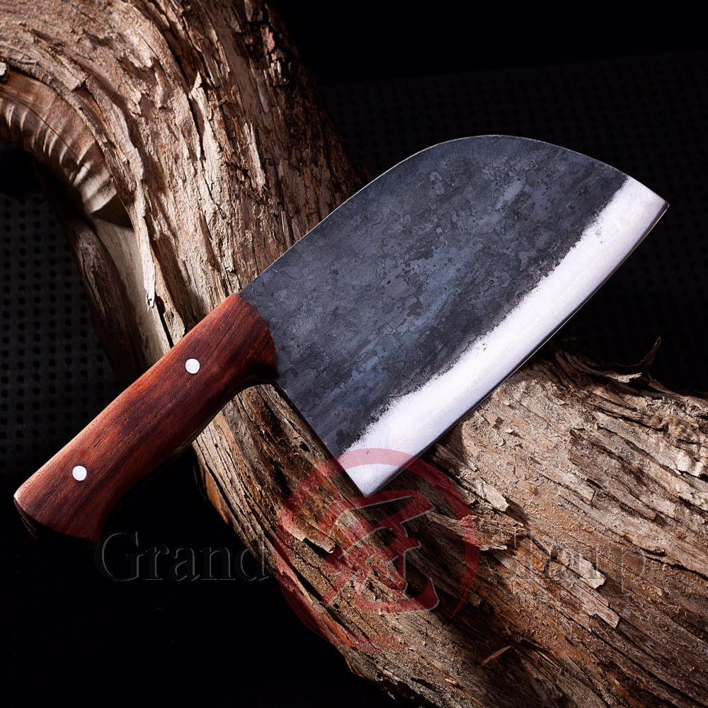 Image 2 - Handmade Chinese Cleaver ECO Friendly Kitchen Knives Slicing  Chopping Chef Knife Manganese Hand Forged Steel Home Cooking  ToolsKitchen Knives