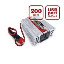 Преобразователь напряжения автомобильный AVS IN-200W(12В > 220В, 200Вт, USB)(+ Набор предохранителей в подарок