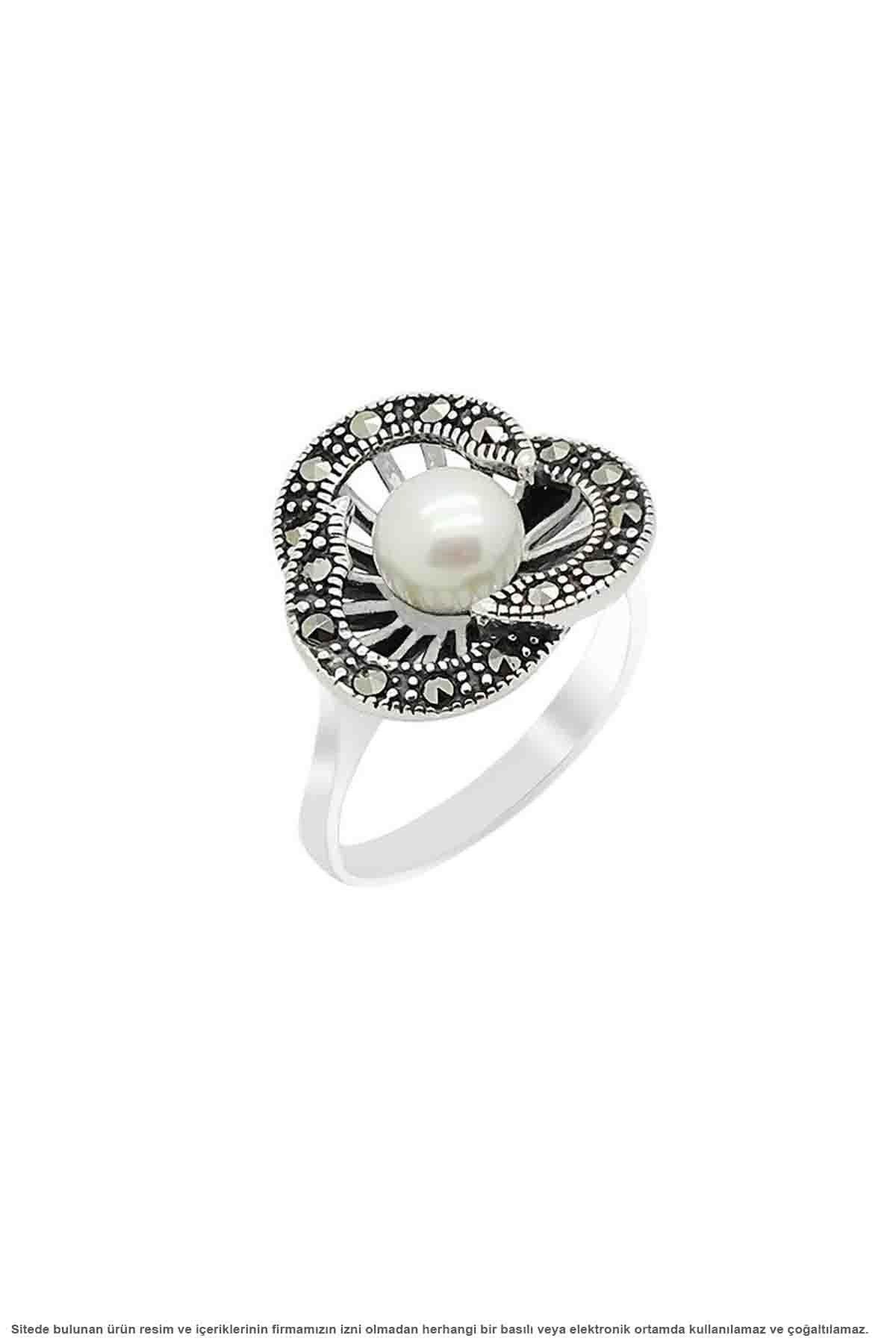 Parure de bijoux Triple perle de marcassite en argent