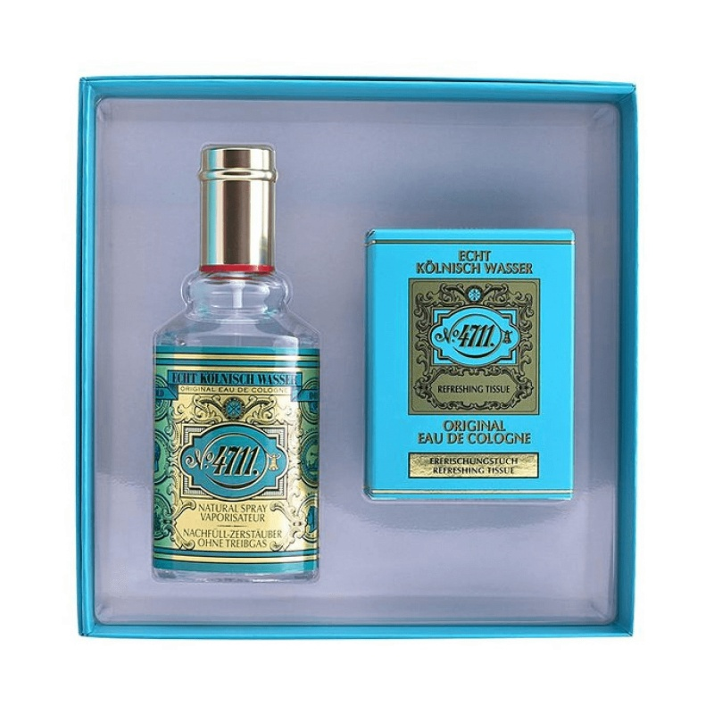 4711 ORIGINAL EAU OOF COLOGNE GIFT CASE (EAU OOF TOILETTE 90ML + 10 CLEANSING WIPES)