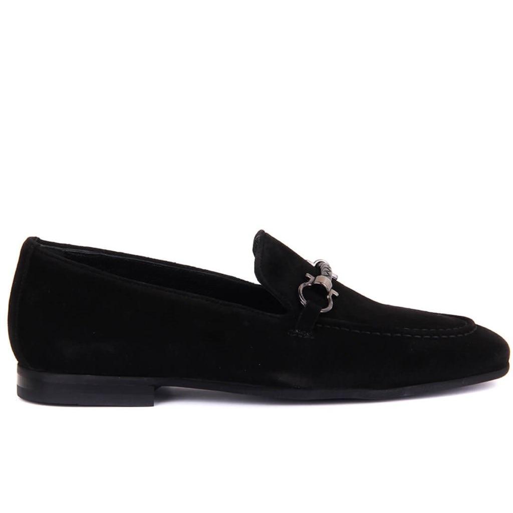 Sail Lakers-Black Suede Men Casual Shoes
