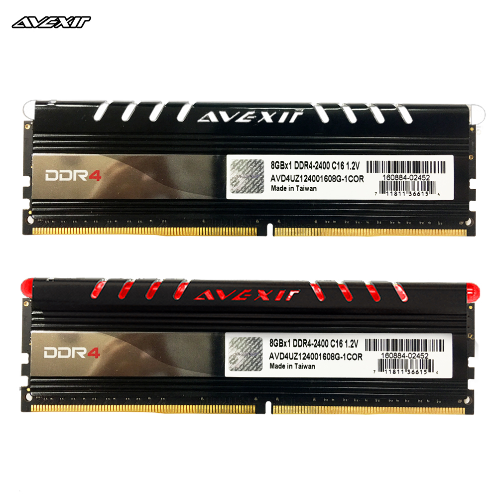 Avexir Core Series Ddr4 Ram 8GB 16GB 2400MHz 2666MHz 3000MHz  DIMM Desktop Memory Support Motherboard Ddr4 1.2V 288pin