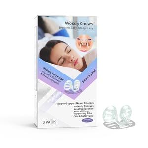 Image 1 - WoodyKnows супер поддерживающие Носовые расширители, носовые дыхательные средства, для носа, против храпа вентиляционные отверстия