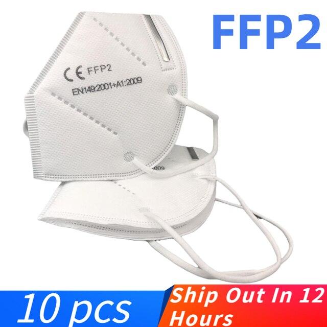 Fast Delivery Face Mask FFP2 Mask KN95 Dustproof KN95 masks Filter Filtration Protective Dust Mouth Mask