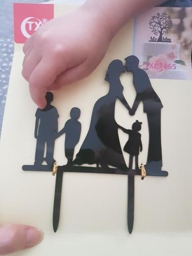 Materiais p/ decoração de bolo Topper Silhueta Família
