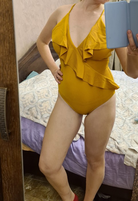 CUPSHE Happy Ending Yellow Solid One piece Swimsuit Falbala V neck Ruffle Sexy Monokini 2020 Ladies Beach Bathing Suit Swimwear|swimwear ladies|one-piece suitswimwear bathing suit - AliExpress