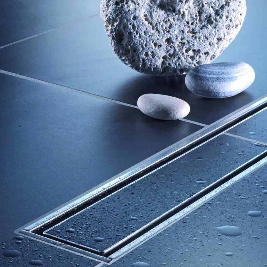 Душевой лоток под плитку из нержавеющей стали, слив для пола ванной комнаты, дренажный трап водоотвод с защитой от запаха