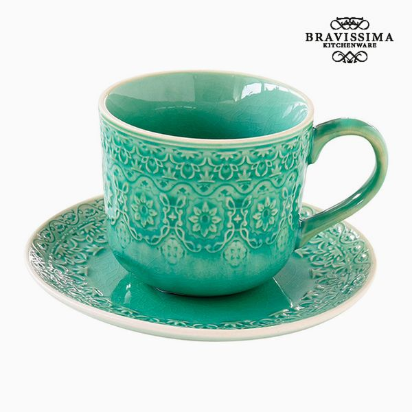 Teacup Porcelain Green By Bravissima Kitchen