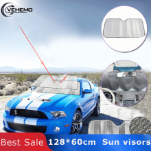Front Windshield Car Window Foldable Sun Visor Shade Shield Cover Block Accessories Silver Color Foam