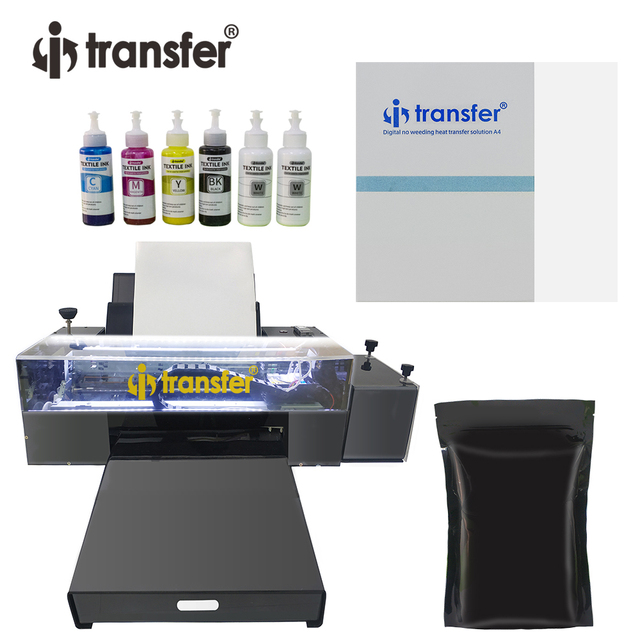 White Ink Circulation Stirring System DTF Printer PET Film Textiles Ink Hot Melt Powder Transfer Printing DTF A3 Printers Kit 1