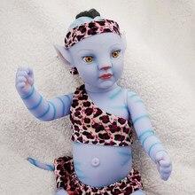 Rbg 20 polegadas bebe avatar renascer bebê boneca recém-nascidos meninos e meninas luz da noite cheia de vinil vivo boneca lol brinquedos presente para crianças
