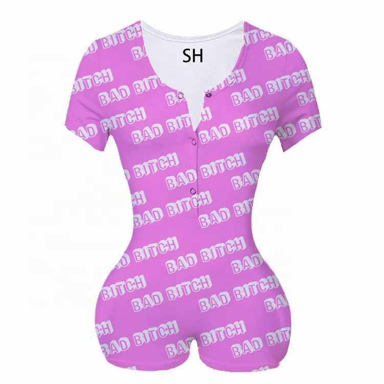 Vrouwen Lady Sexy Romper Bodycon 2020 Bodysuit Jumpsuit Romper Lange Mouw Shorts Turnpakje Homewear Trainingspak Playsuit Pyjama