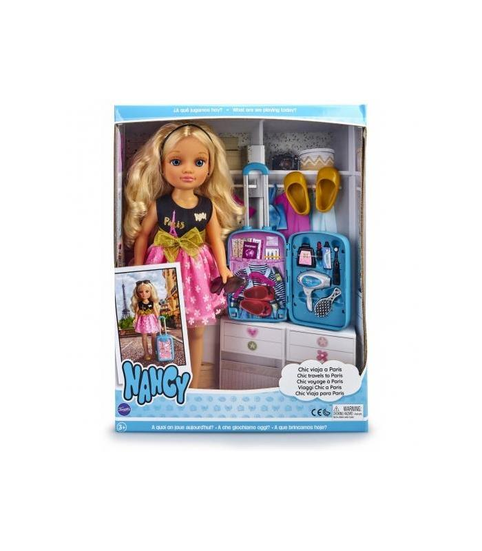 Nancy-Chic Travels To Paris, Babydoll With Suitcase And Accessories Toy Store Articles Created Handbook