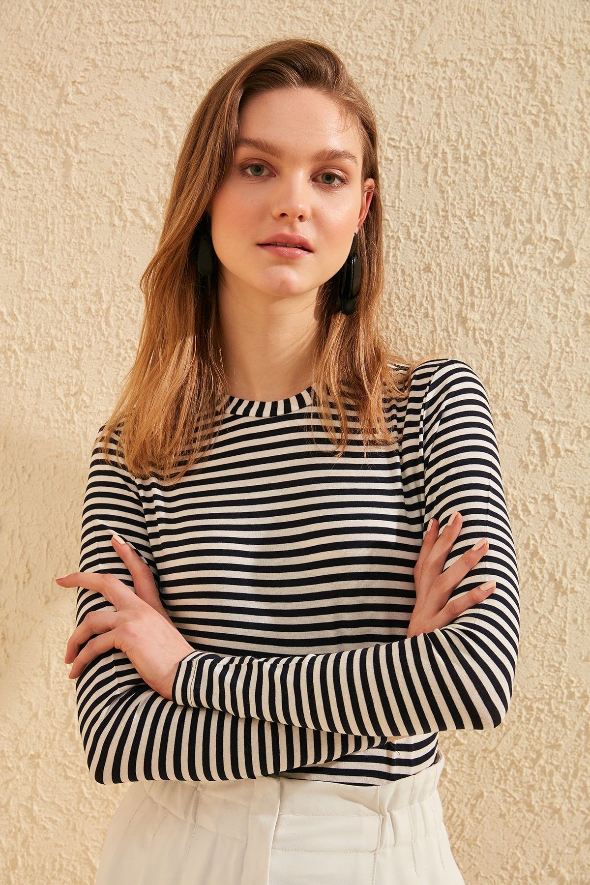 Trendyol Striped Knitted Blouse TWOSS20BZ0416