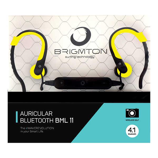 Bluetooth Спортивная гарнитура с микрофоном BRIGMTON BML-11 желтый