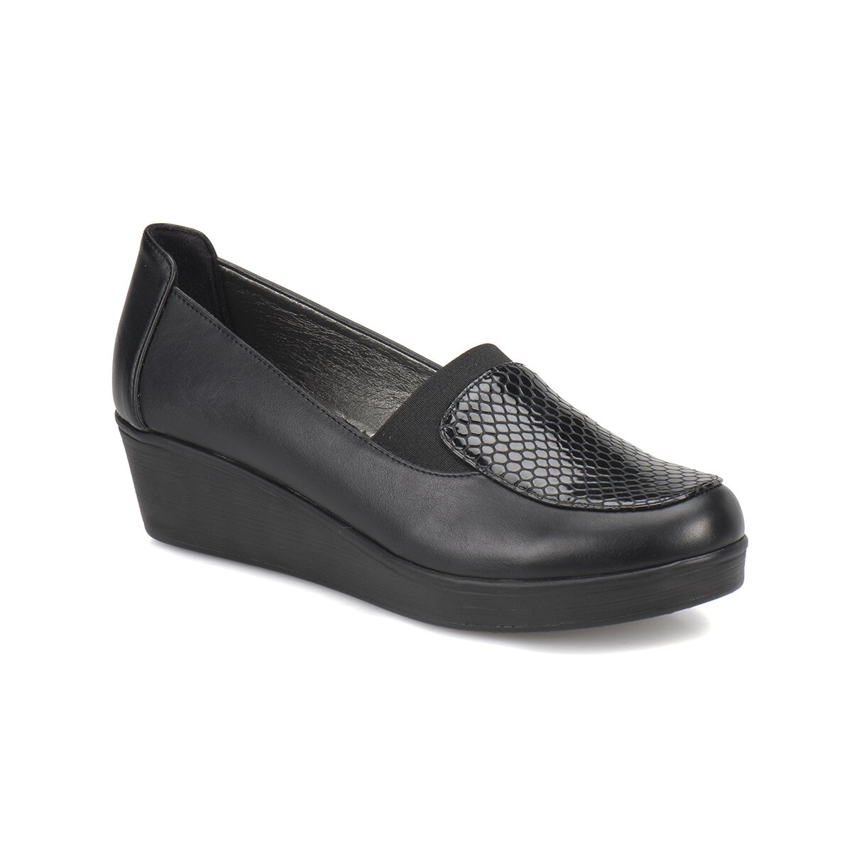 FLO 72.158086.Z Black Women 'S Wedges Shoes Polaris