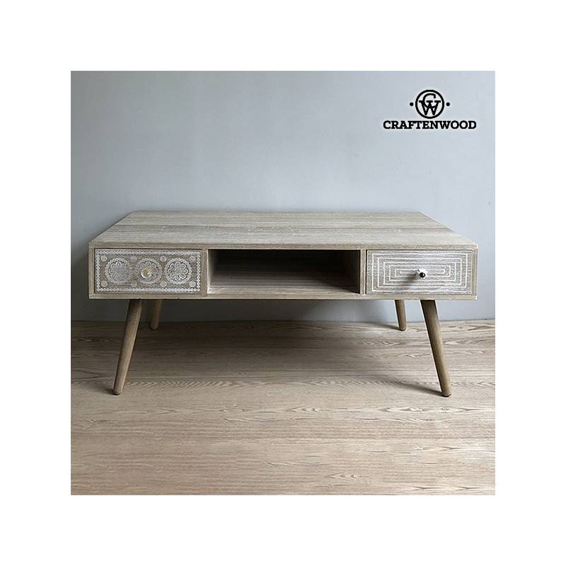 Coffee Table Wood Paulownia (110x55x43 Cm)