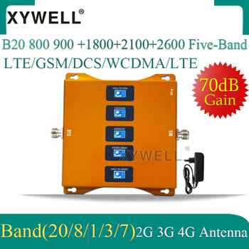 1PCS B20 800 900 1800 2100 2600mhz Five-Band 4G Cellular Amplifier Repeater GSM 2g 3g 4g Mobile Signal Booster LTE GSM DCS WCDMA