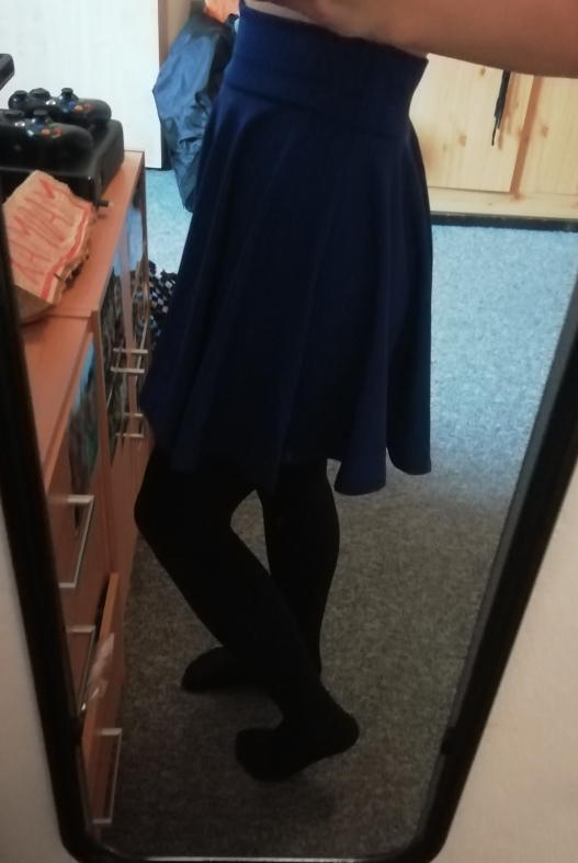 Plus Size Mini Shorts Skirts Women Casual A Line High Waist Pleated Skirt Female School Girl Skater Skirt Black Blue photo review