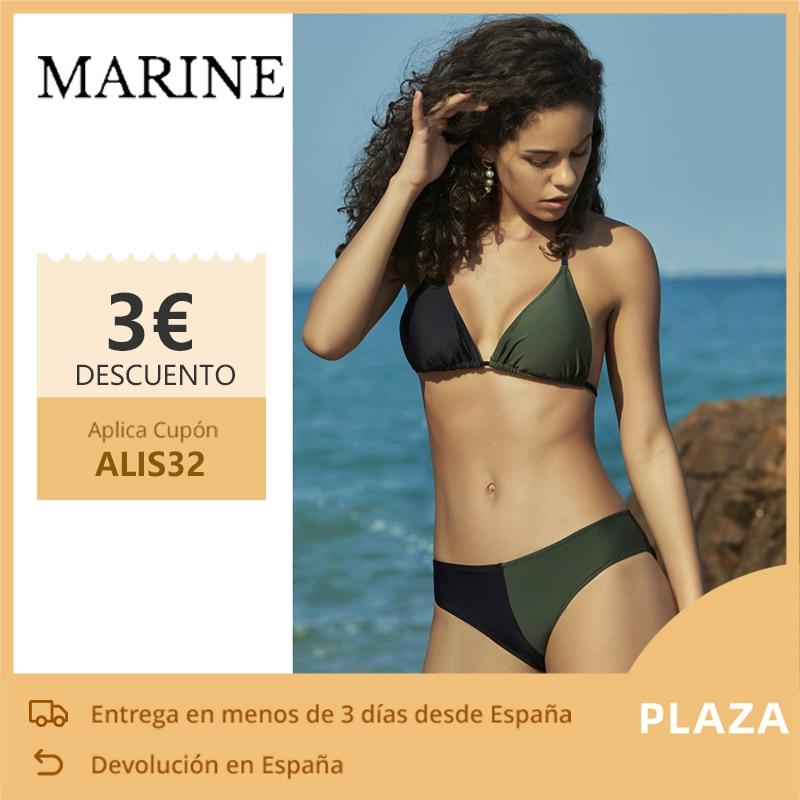 MARINE- Bikini Women, Women Woman's swimwear sexy bikinis, triangle bra, with QUILTED soft, bikini 2020 female