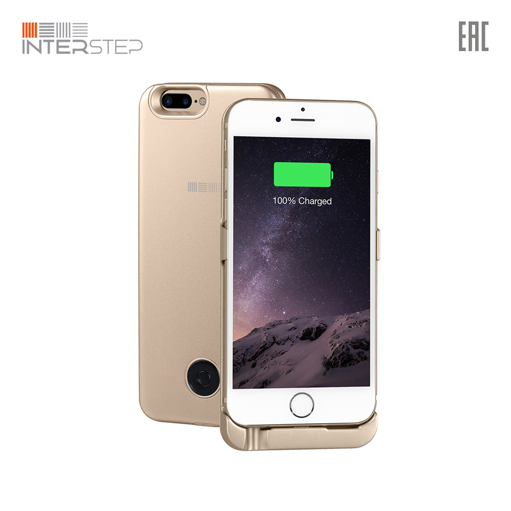 Case battery INTERSTEP for iPhone 8 P/7/Plus 5000 mAh, Gold