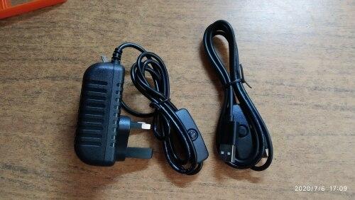 Raspberry pi 4 power switch line type-c interface 5V 3A USB power supply line reviews №1 152564