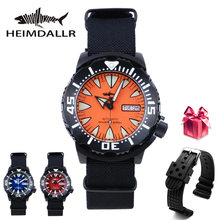 Heimdallr Монстр automatch Для мужчин мужские часы nh36 черный