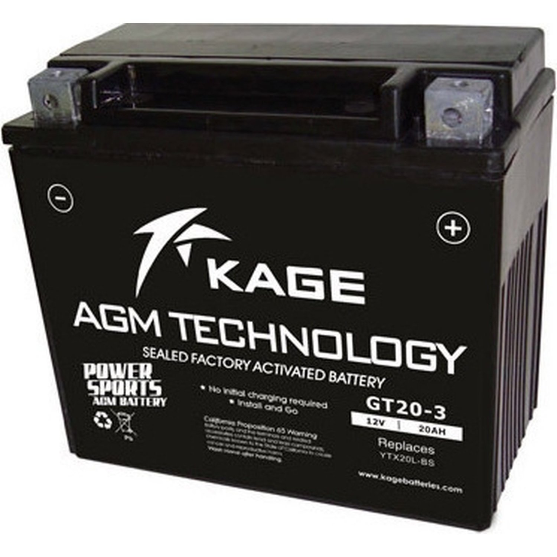 Motorcycle Battery AGM YTX20L-BS GEL (GT20-3)