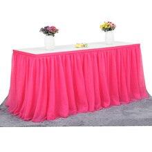 183x77 см, Тюлевая юбка-пачка для свадебной вечеринки, юбка для стола, столовая посуда, ткань для детского душа, вечерние, домашний декор, юбка для стола, вечеринка на день рождения
