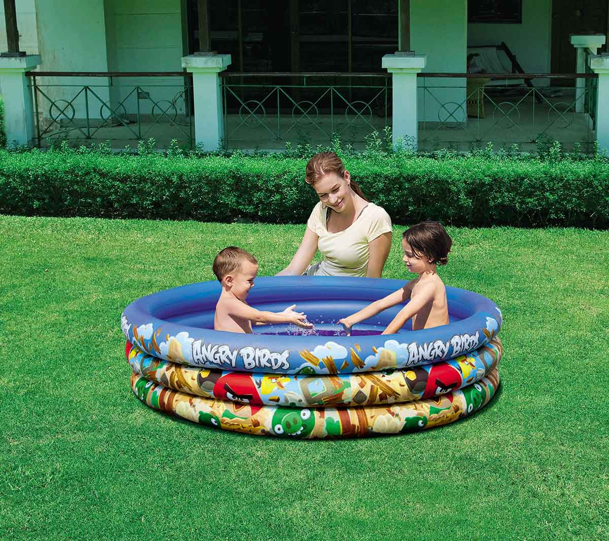 Bestway Inflatable Pool Child Angry Birds-96108B