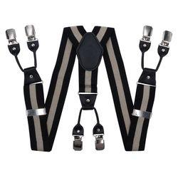 Hosenträger für hosen breite (4 cm, 6 clips, schwarz) 54171