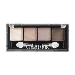 Sombra de ojos luxvisage glam look (4-color) 4G mate sombra de ojos polvo pigmento larga duración brillante sombra de ojos maquillaje resistente al agua belleza
