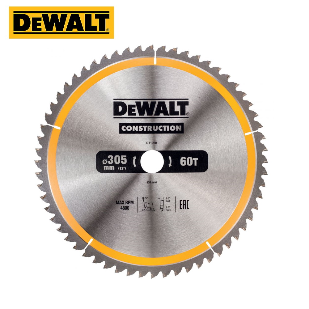 Circular Saw Blade DeWalt DT1960-QZ Tool Accessories Construction Accessory Saw Disk On A Tree Delivery From Russia