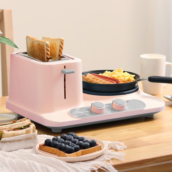 Electric three-in-one toaster Home Mini Electric Steamer, Breakfast Machine 1