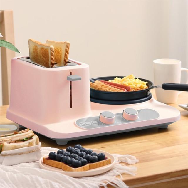 Electric three-in-one toaster Home Mini Electric Steamer, Breakfast Machine 1