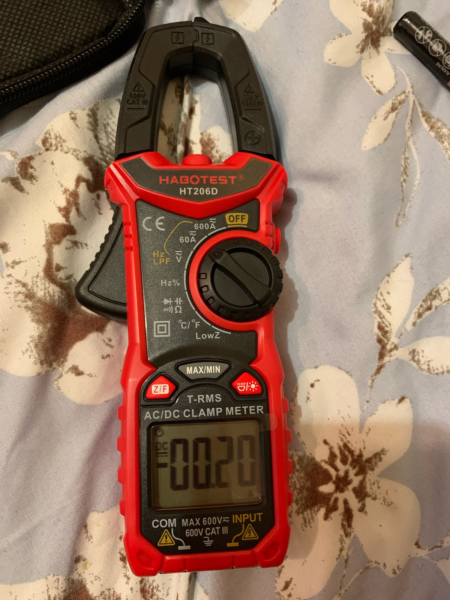 AC DC Digital Clamp Meter Multimeter True RMS High Precision Capacitance NCV Ohm Hz Tester
