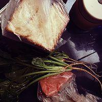 健身食谱又来了~菠菜牛肉三明治的做法图解1