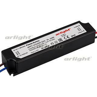 018136 Power Supply ARPV-LV24025 (24 V, 1.0A, 24W [IP67 Plastic 2] Box-1 Pcs ARLIGHT-Блок Power Supply/AC/DC Source ^ 20