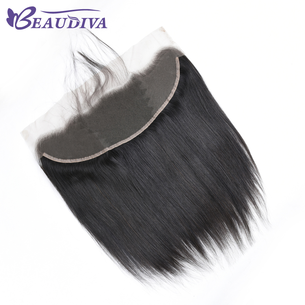 Image 4 - Beaudiva Brazilian Straight Hair Weave Bundles With Frontal Closure Lace Frontal With Bundles Human Hair Extension Hair Bundles-in 3/4 Bundles with Closure from Hair Extensions & Wigs