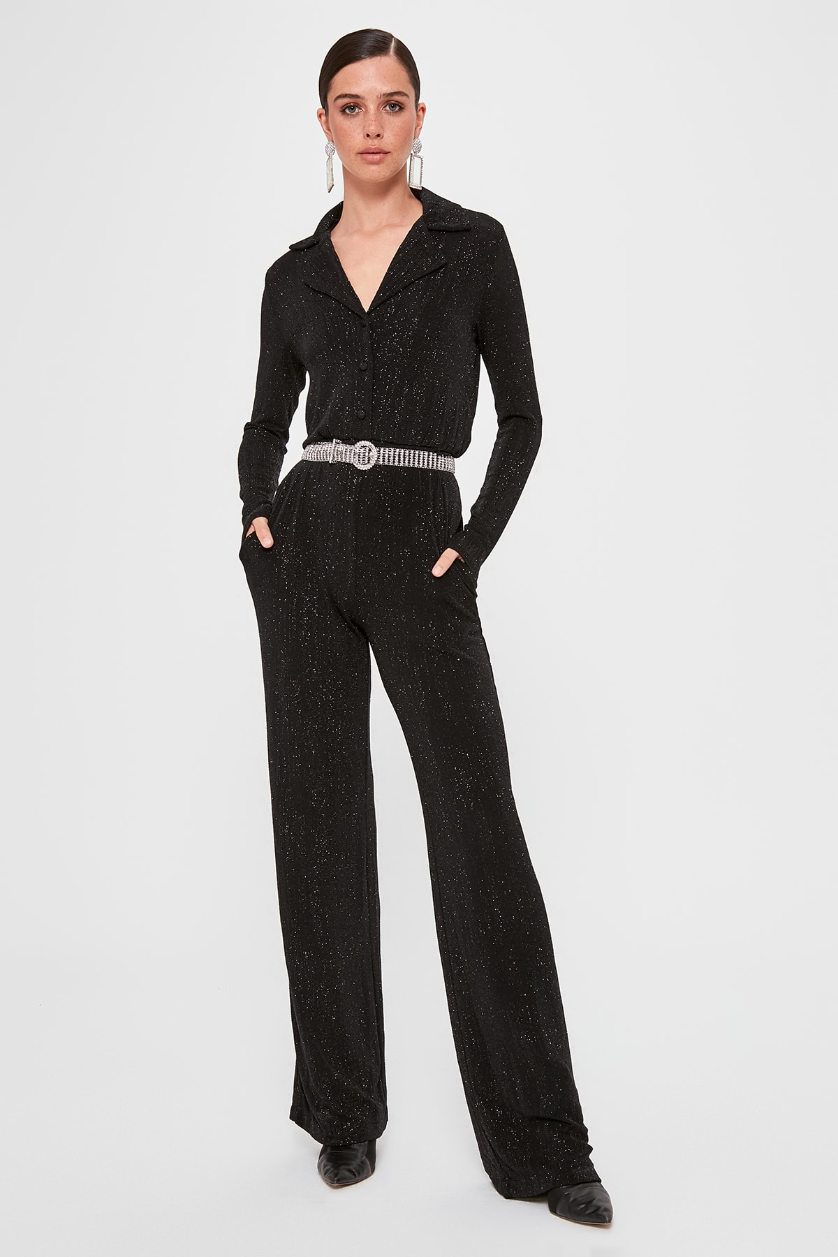 Trendyol Laced Jumpsuit TPRAW20TU0050